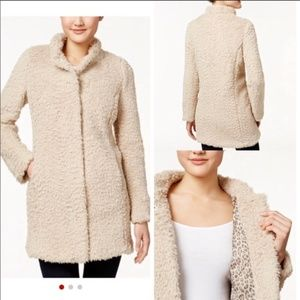 🔥Last chance🔥Kenneth Cole beige faux fur coat